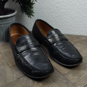 Allen Edmonds Forti Leather Black Loafers 10.5 D